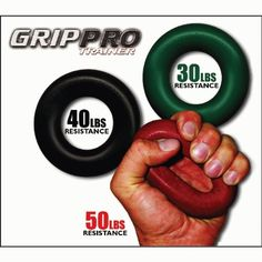 Grip Pro Trainer Hand Grip Forearm Strength Gripper 40 lbs - Black