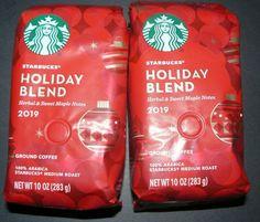 4 Bags of Starbucks Holiday Blend 2019 10 oz. Starbucks Menu Canada, Coffee Drinks, Coffee Mugs, Starbucks Merchandise, Starbucks Holiday Blend, Coffee Bean Bags, Winter Things, Coffee Packaging
