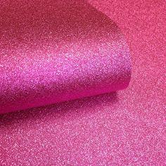I Love Wallpaper™ Glamour Real Glitter Wallpaper Hot Pink (GLAM356)