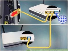 How to Connect One Router to Another to Expand a Network. This wikiHow teaches you how to add a secondary router to your home or small business network. If you want to add more computers or other devices to your home or small business. Internet Router, Computer Internet, Computer Router, Wireless Router, Computer Repair, Computer Tips, Computer Projects, Ideas, Awesome