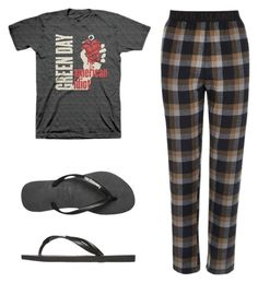 Pijama 3 - Loser Like Me by wishmemuke on Polyvore featuring Havaianas and River Island