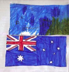 Australian Flag Printable to cut and colour