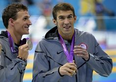 Phelps and Lochte...they are adorable.