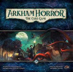 Description from the publisher:  Something evil stirs in Arkham, and only you can stop it. Blurring the traditional lines between roleplaying and card game experiences, Arkham Horror: The Card Game is a Living Card Game of Lovecraftian mystery, monsters, and madness!  In the game, you and your friend (or up to three friends with two Core Sets) become characters within the quiet New England town of Arkham. You have your talents, sure, but you also have your flaws. Perhaps you've dabbled a ...