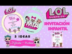 L.O.L surprise - Invitaciones digitales   Party Pop Funny Birthday Cakes, Birthday Parties, Imprimibles Toy Story Gratis, Mickey Mouse Party Decorations, Party Pops, Lol Dolls, Princess Party, Diy Videos, Paw Patrol