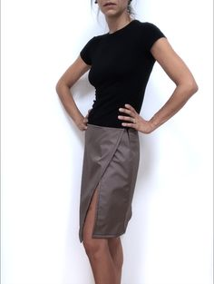 Skirt with side split di Fedracollection su Etsy