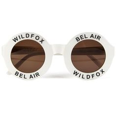 aa5e248492 Wildfox Women s Bel Air Sunglasses - Pearl White Round Lens Sunglasses