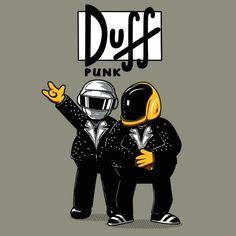 t-shirt simpson  t-shirt daft punk  Tshirt duff