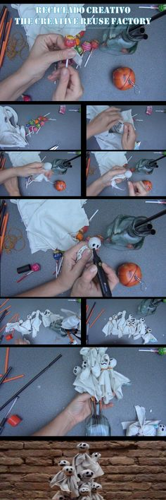 OCTUBRE Cómo hacer fantasmas para Halloween con unos chupachups - HALLOWEEN