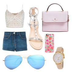 """Spring day"" by maryoneal on Polyvore featuring Sonia Rykiel, Rebecca Minkoff, Ray-Ban, Kate Spade and Casetify"