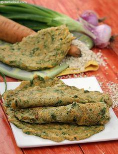High Fibre Chilas recipe | Indian Low Fat Recipes | by Tarla Dalal | Tarladalal.com | #3546