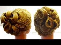 Evening hairstyle. Hairstyle Hairstyle for corporate corporate Party