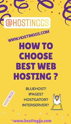How to choose web hosting? BlueHost, IPAGES, godaddy, INTERSERVER hosting more www.hostinggs.com   make easy money hosting ideas hosting party ideas clouds vps domains making a website make your own website website homepage website tips website inspiration making a blog website content create website wix website ideas starting a website begginers siteground blogger bloggingtips domain #makeyourownwebsite