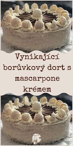 Vynikající borůvkový dort s mascarpone krémem