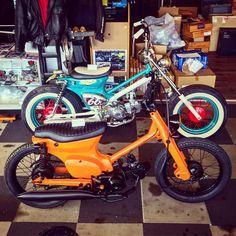 Honda Cub, Cafe Racing, Mopeds, Bobbers, Custom Bikes, Chopper, Cars And Motorcycles, Cubs, Man Cave