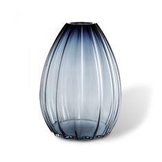 Holmegaard 2Lips Vase Blå 45 cm.