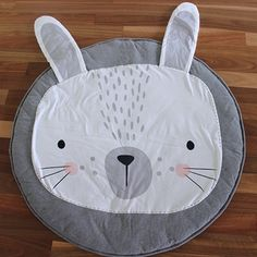 Bunny Rabbit Face Play Mat