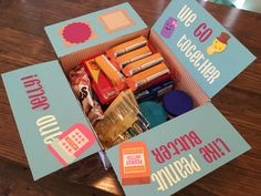 Peanut butter and jelly care package flaps by AmandaKatesKrafts