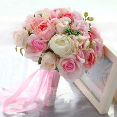 [US$ 43.99] Girly Round Fabric Bridal Bouquets/Bridesmaid Bouquets - (123114822)