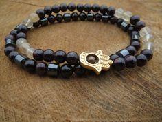 ABUNDANCE and Wealth Bracelets Protective by BohemianChicbead