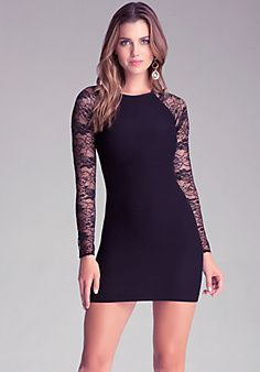 Gorgeous lace sleeve dress