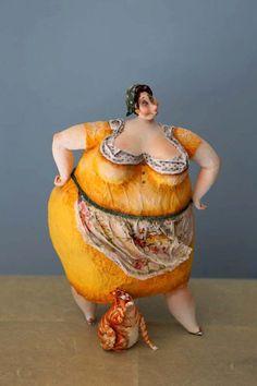 "Katya ""fairy tales""-Russie- - voyage à travers l'art du monde Big And Beautiful, Beautiful Dolls, Plus Size Art, Fat Art, Polymer Clay Dolls, Paperclay, Sculpture Clay, Art Dolls, Fairy Tales"