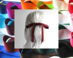 Etsy :: Your place to buy and sell all things handmade Hair Ribbons, Hair Bows, Crimping, Natural Shapes, Bad Hair Day, Grosgrain, Girl Hairstyles, Women Jewelry, Hair Accessories