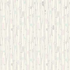Flowy!  1950s Wallpaper, Retro Wallpaper, Atomic Age | Googieland | Bradbury & Bradbury