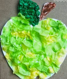 Tissue Paper Apple Art Project For Kids @ Blissful Roots (fall crafts for kids fine motor skills) September Art, September Crafts, September Preschool, Apple Art Projects, Fall Art Projects, Projects For Kids, Fall Crafts For Kids, Kids Crafts, Early Education
