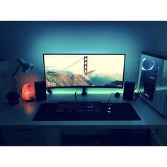 """1,828 Likes, 5 Comments - Mal - PC Builds and Setups (@pcgaminghub) on Instagram: """"Very nice ultra wide setup, looks like a very chill place, the salt lamp is a nice touch and so are…"""""""