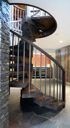 Modern ranch staircase by Johnson Interior Design