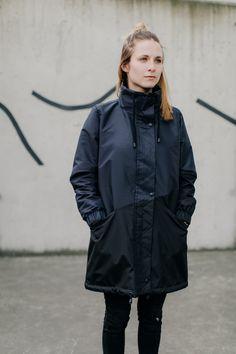 damska kurtka BURZOWA CHMURA - METR64 - Polskie rękodzieło Raincoat, Winter Jackets, Fashion, Rain Jacket, Winter Coats, Moda, Fashion Styles, Fasion