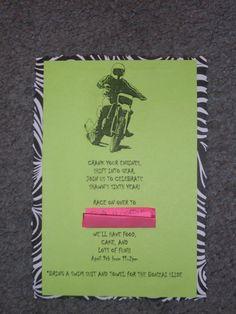 dirtbike theme invite