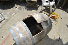 Very thorough tutorial on how to make a wine barrel sink.