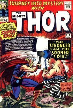 Journey into Mystery 114. Por Jack Kirby, Chic Stone, Stan Goldberg y Artie Simek. #Thor #JackKirby