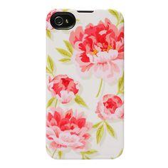 Agent18 Vintage Floral SlimShield Limited iPhone 4 Cell Phone Case, Multicolor