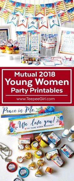 Use this 2018 Young Women Printable Party Kit to help plan great activities, welcome new Young Women, and give great gifts! This set has EVERYTHING! Check it out: www.TeepeeGirl.com