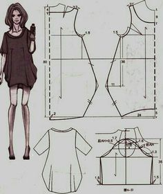 Dress tailor sew Abito a palloncino Clothing Patterns, Dress Patterns, Sewing Patterns, Fashion Sewing, Diy Fashion, Fashion Ideas, Sewing Clothes, Diy Clothes, Dress Sewing