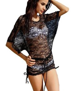 Hot Sexy Women's Girl's Swimwear Cover-Ups Dress Fashionable Beachwear-Black Cool Outfits, Summer Outfits, Fashion Outfits, Skull Dress, Swimwear Cover Ups, Cute Bathing Suits, The Bikini, Up Girl, Summer Wear