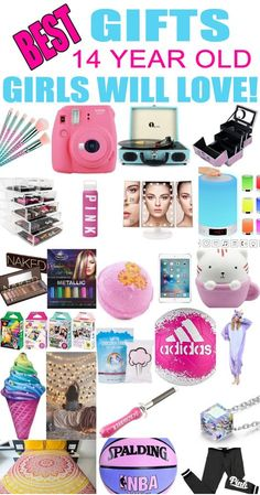 Best Gifts 14 Year Old Girls Will LoveThanks shyannetravis for this post.Gifts 14 Year Old Girls! Best gift ideas and suggestions for 14 yr old girls. Top presents for a girl on her fourteenth birthday or Christmas! Coolest gifts for that spe# gift Birthday Presents For Teens, Presents For Girls, Unique Birthday Gifts, Gifts For Kids, Birthday Ideas, Birthday List, Teenage Birthday Gifts, Top Gifts For Girls, 14th Birthday