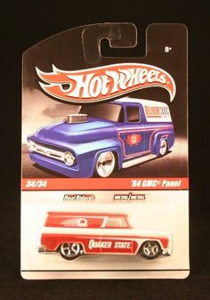 QUAKER STATE '64 GMC PANEL 34/34 * RED & PEARL WHITE * Slick Rides 2010 Hot Wheels Delivery Series 1:64 Scale Die-Cast Vehicle by Mattel. $9.99. Originally released in 2010 - Retired /Out of production!. Ages 8 and up. From Mattel.. QUAKER STATE '64 GMC PANEL 34/34 * RED & PEARL WHITE * Slick Rides 2010 Hot Wheels Delivery Series 1:64 Scale Die-Cast Vehicle. Vehicle measures approximately 3 inches long.. Includes die-cast bodies, die-cast chassis and Real Rider...