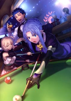 Medea Okita and Cu playing 8ball