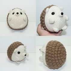 Different angles of Harry the Hedgehog. :) #hedgehog #cute #adorable #crochet #amigurumi #bobblestitch #popcornStitch #ClusterStitch #kawaii #chubby #chibi