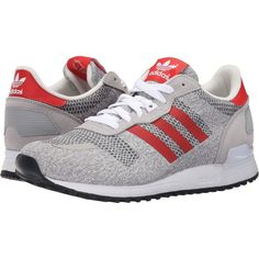 low priced bf75b 9f248 adidas Originals ZX 700 IM (White Red Black) Men s Running Shoes (