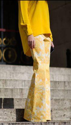 yellow- Paris Fashion Week 2013...bellbottoms are back.