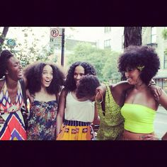 Some of my favorite naturals! Chesca Leigh, Nikisha of the Urban Bush Babes, Hey Fran Hey, Myleik who is the creator of curlBOX and Taren916 <3