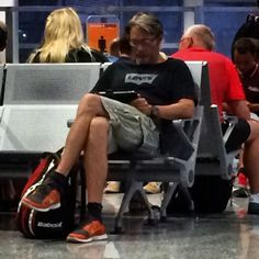 Mads Mikkelsen at an airport 7.26.14