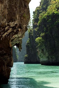 The turquoise waters of Loh Samaf Bay, Ko Phi Phi.  Picture: Catherine Sutherland