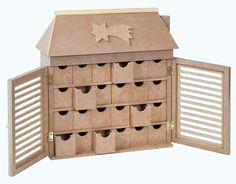 """Adventskalender """"Kleiner Kaufladen"""" mit 24 Schüben aus MDF-Holz H 27 x B 26,5 cm: Amazon.de: Spielzeug"""