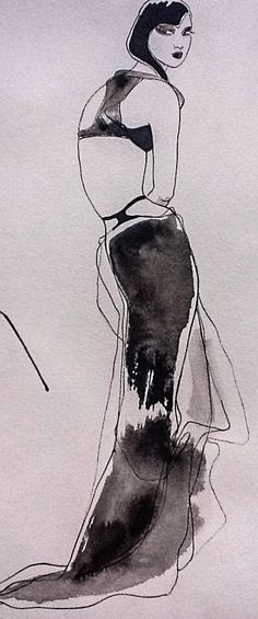 Fashion Art by Vyse, Indian ink.